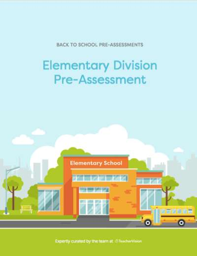 Elementary Division Pre-Assessment