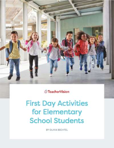 A packet of first day activities for elementary students