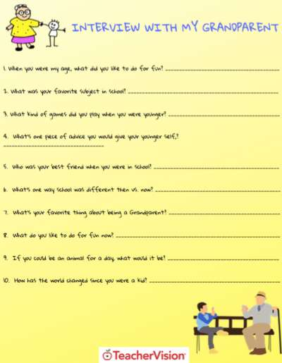 Grandparent's Day Interview Activity