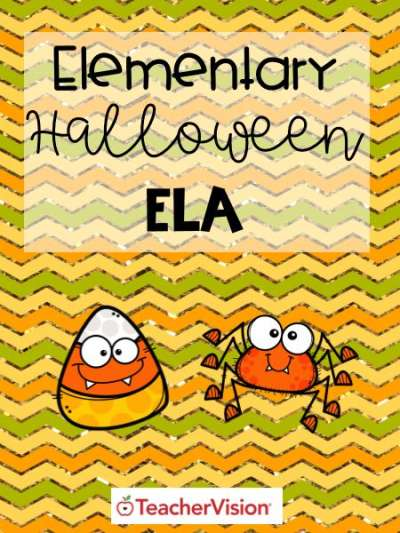 A packet of Halloween-themed activities for elementary ELA