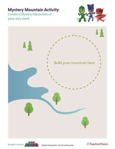 This activity is designed to be used with the PJ Masks Create Center Activity #2: Mystery Mountain.