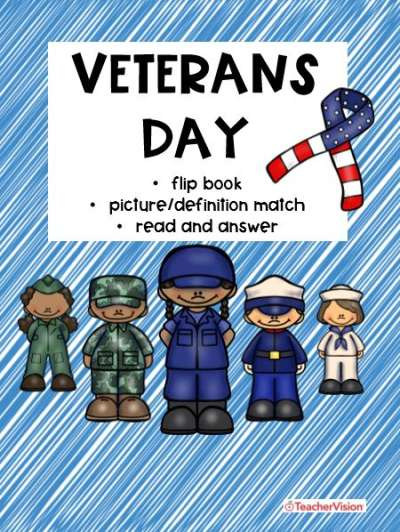 Veterans Day classroom activities for 1st through 4th grade