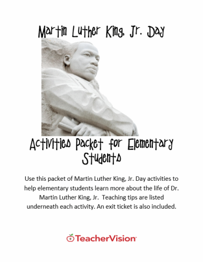 MLK Day Activities Packet