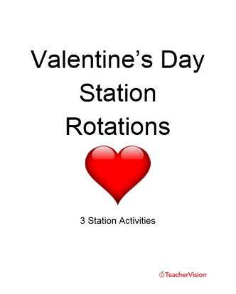 Valentine's Day Station Rotations for Elementary Classrooms