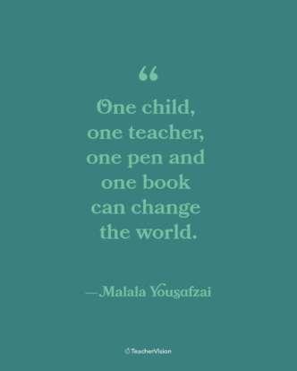 Malala Yousafzai Women's History Month Inspirational Classroom Poster