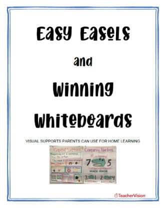 Easy Easels and Winning Whiteboards