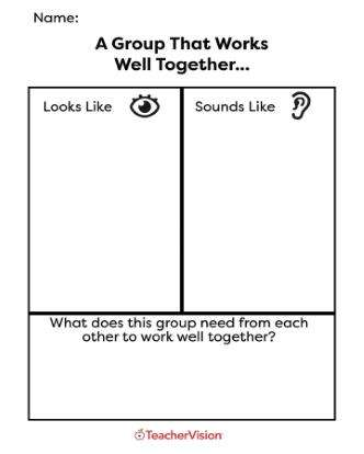 Looks Like/Sounds Like Graphic Organizer
