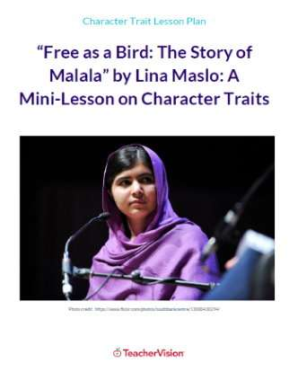 Malala Yousafzai Character Traits Language Arts Mini-Lesson