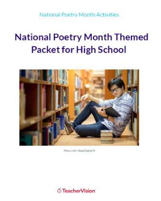 National Poetry Month Themed Packet (High School)