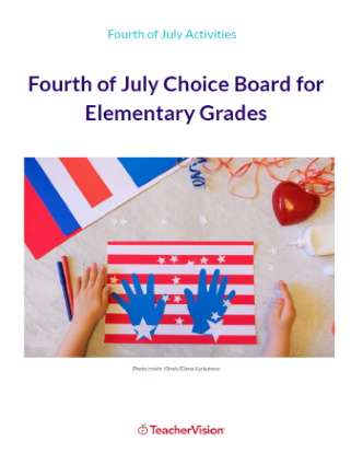 Fourth of July Choice Board for Elementary Grades