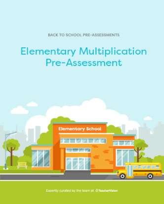 Elementary Multiplication Diagnostic Pre-Assessment