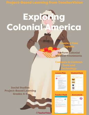 Exploring Colonial America Project-Based Learning Unit from TeacherVision