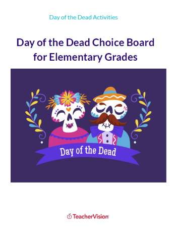 Day of the Dead Choice Board for Elementary Grades