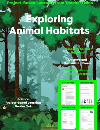 Exploring Animal Habitats: Project-Based Learning Unit from TeacherVision
