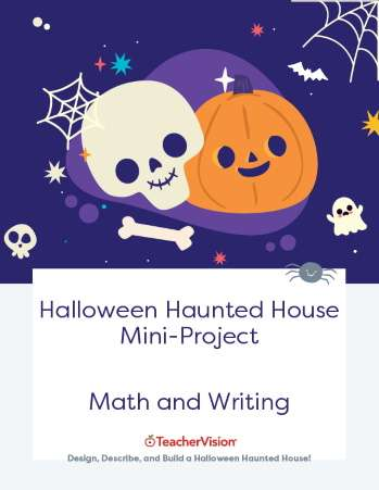 Halloween Haunted House Math and Writing Mini-Project