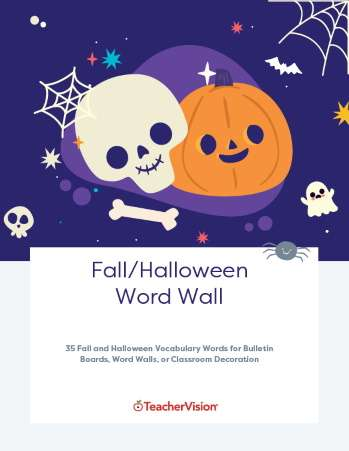 Halloween and Fall Word Wall Decor Themed Packet