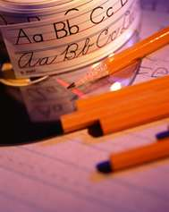 Pencils and learning materials