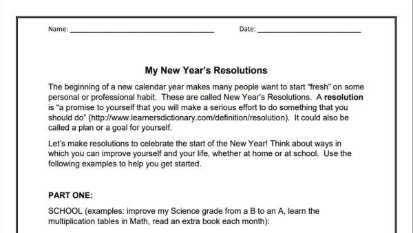 My New Year Resolutions (3-6)