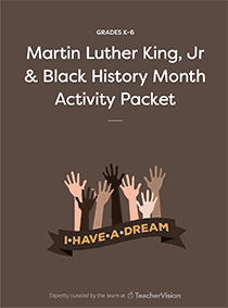 black history month and mlk day worksheets