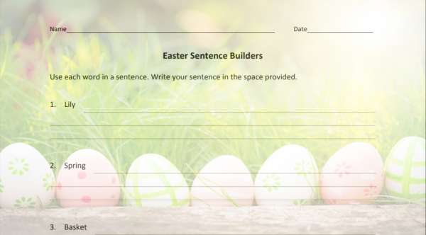 Easter Word Activities from TeacherVision