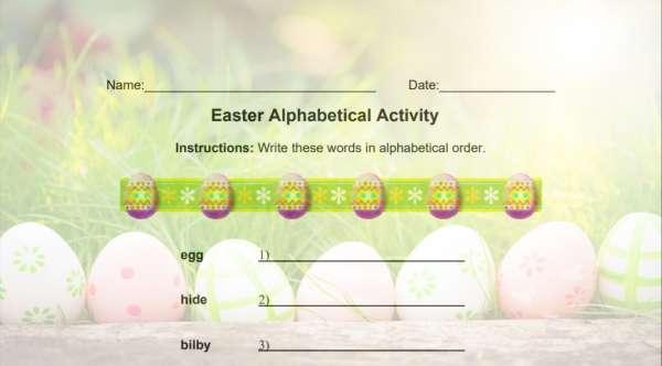 Easter Alphabet Activity