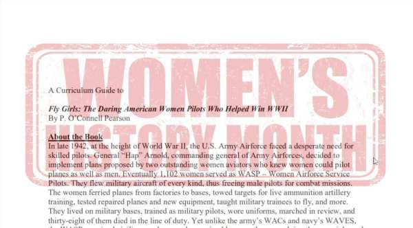 Fly Girls World War II Female Pilots Teaching Guide