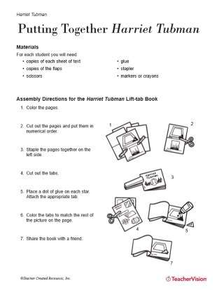 Harriet Tubman Lift-Tab Book Activity