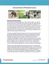 Characteristics of Mammals Background Information Cover Image