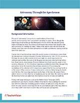 Astronomy Through the Ages Background Information
