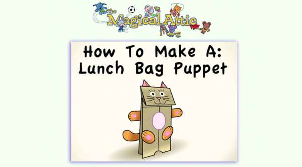 Early Learning Create-Along Video: How to Make a Lunch Bag Puppet