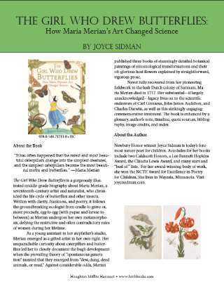The Girl Who Drew Butterflies by Joyce Sidman