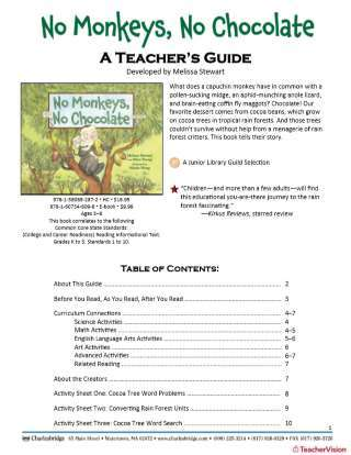 No Monkeys, No Chocolate Teaching Guide