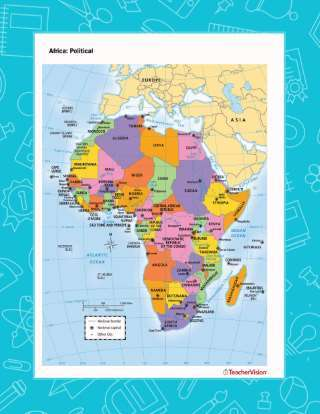 A map of the political regions of Africa