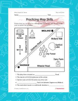 Mapping Skills Activity for Social Studies