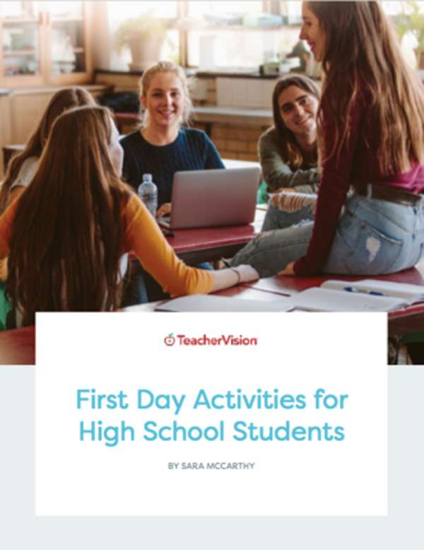First Day Activities For High School Students