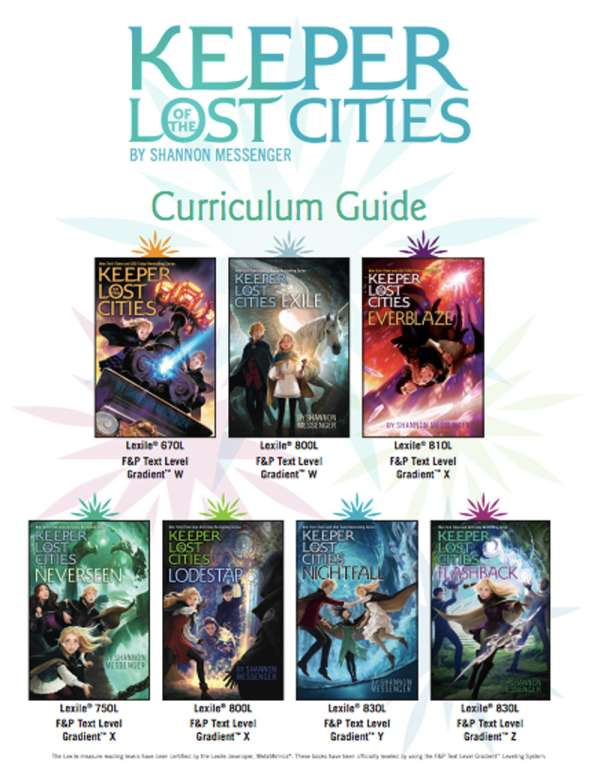 Keeper Of The Lost Cities Curriculum Guide