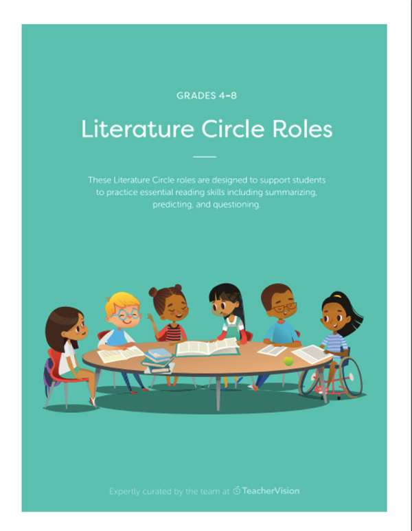 A packet of group roles for Literature Circles