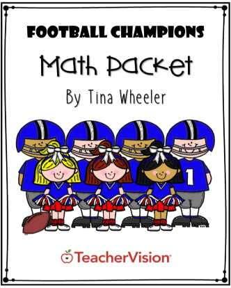 Football Champions Math Packet