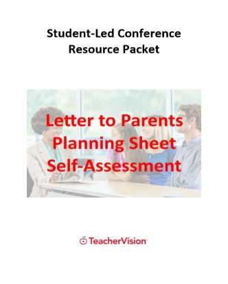 Student-Led Conference Resource Packet