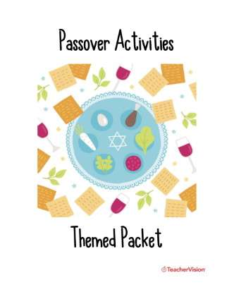 Passover Activities Themed Packet (Elementary)
