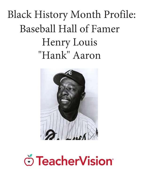 Black History Month Profile: Baseball Hall of Famer Hank Aaron