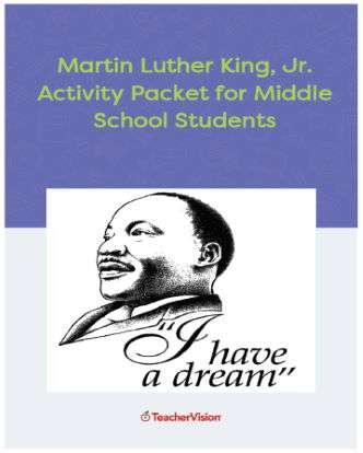 Martin Luther King, Jr. Day Activities Packet for Middle School Students