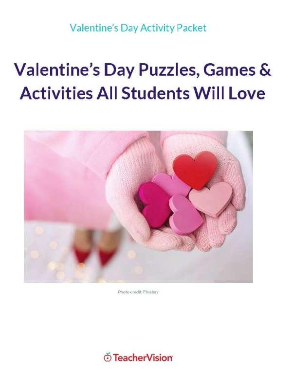 Valentine's Day Puzzles, Games & Activities