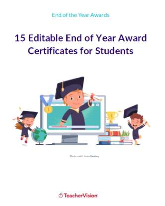 15 Editable End of Year Awards for Students