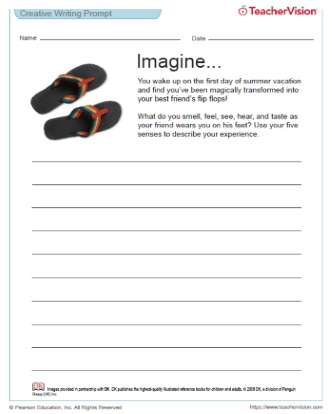Sensory Writing from an Object's Perspective: If I Were a Pair of Flip Flops...