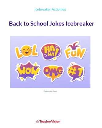 Back to School Jokes Icebreaker and Writing Activity