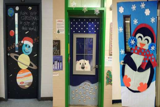 Ideas for winter-themed classroom doors