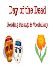 Day of the Dead Reading Passage & Vocabulary