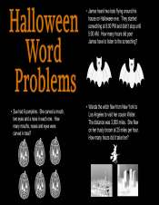 Creating Halloween Word Problems