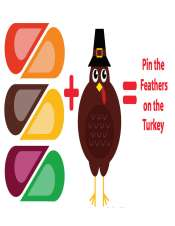 Pin the Feathers on the Turkey Thanksgiving Game